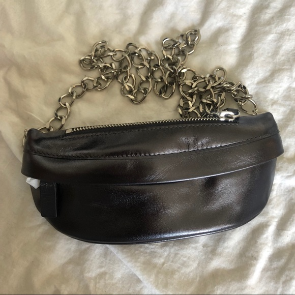 721c7260ee76 Bags | Avec La Troupe Belt Bag In Metallic Black | Poshmark
